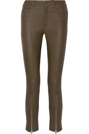 HELMUT LANG Stretch-leather skinny pants