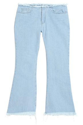 MARQUES ' ALMEIDA Cropped mid-rise frayed flared jeans