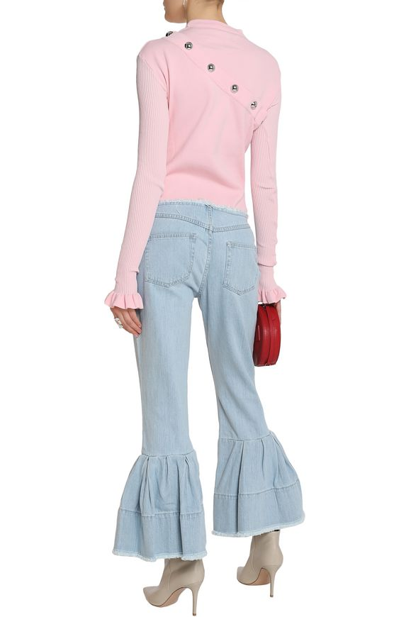 Cropped pleated mid-rise flared jeans | MARQUES ' ALMEIDA | Sale up to 70%  off | THE OUTNET