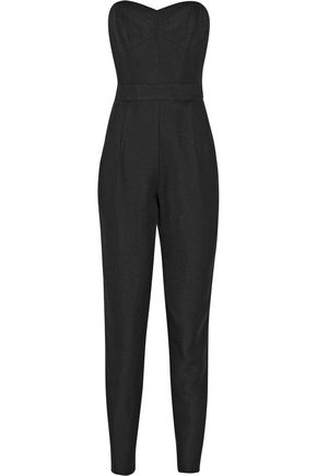 MILLY Strapless twill jumpsuit