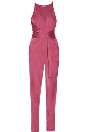 ISSA Rubell printed stretch-jersey jumpsuit