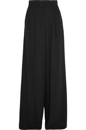 VANESSA SEWARD Charlotte wool-blend crepe wide-leg pants