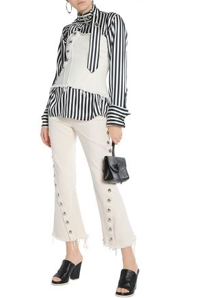 MARQUES' ALMEIDA Button-detailed mid-rise flared jeans
