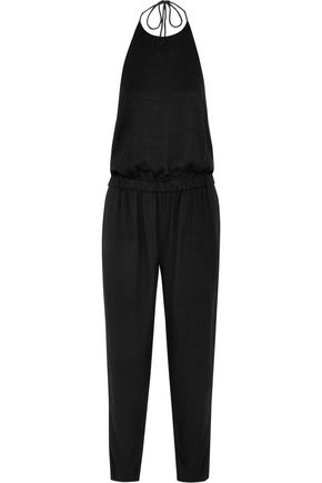 MIKOH Canvas halterneck jumpsuit