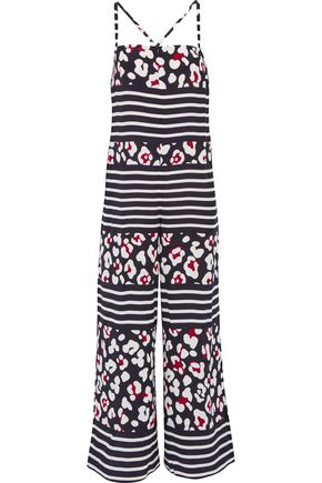 REDValentino Printed silk jumpsuit