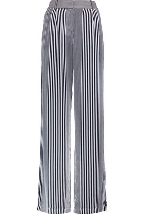 MICHAEL MICHAEL KORS Striped crepe wide-leg pants
