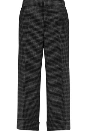 MARNI Checked wool-canvas straight-leg pants