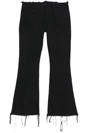 MARQUES ' ALMEIDA Frayed low-rise flared jeans
