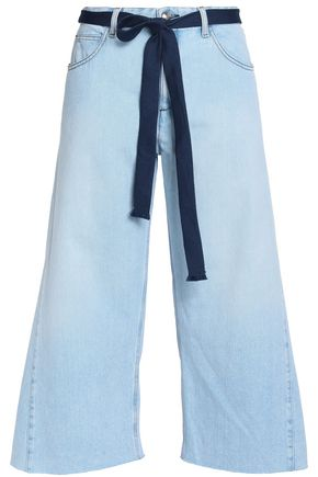 SONIA RYKIEL Cropped belted mid-rise wide-leg jeans