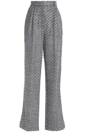 SONIA RYKIEL Herringbone cotton-blend straight-leg pants