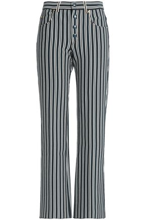 SONIA RYKIEL Striped cotton-blend striaght-leg pants