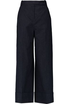 CARVEN Pinstriped felt wide-leg pants