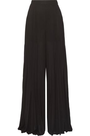 ELIE SAAB Pleated georgette wide-leg pants