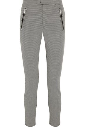 ISABEL MARANT ÉTOILE Rhett houndstooth cotton-blend skinny pants
