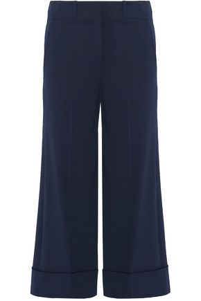MICHAEL KORS COLLECTION Cropped wool-blend wide-leg pants
