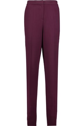 ROKSANDA Welles satin-trimmed twill tapered pants