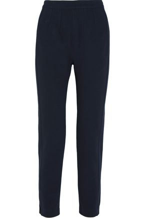 ATLEIN Stretch cotton-blend piqué slim-leg pants