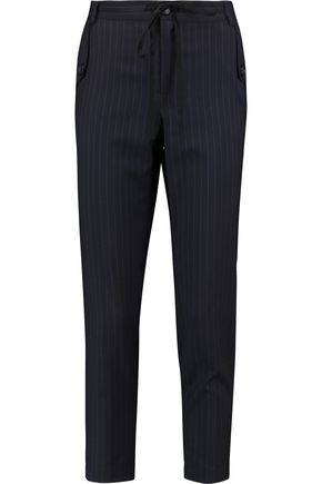 ROBERT RODRIGUEZ Pinstriped wool slim-leg pants