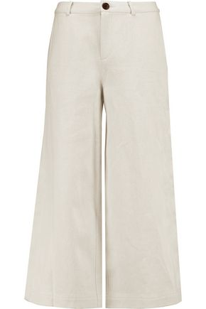 ROBERT RODRIGUEZ Cotton and linen-blend twill culottes
