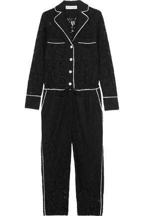 ROBERT RODRIGUEZ Cotton-blend guipure lace jumpsuit