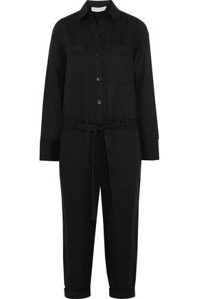 ROBERT RODRIGUEZ Cotton and linen-blend jumpsuit