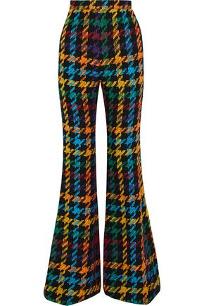 BALMAIN Jacquard cotton-blend wide-leg pants