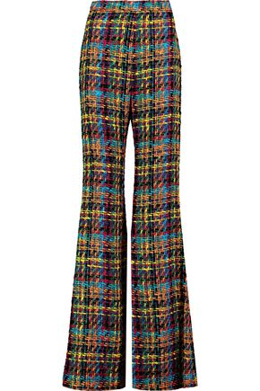 BALMAIN Cotton tweed wide-leg pants