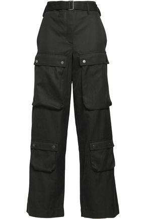 HELMUT LANG Cotton-blend wide-leg pants
