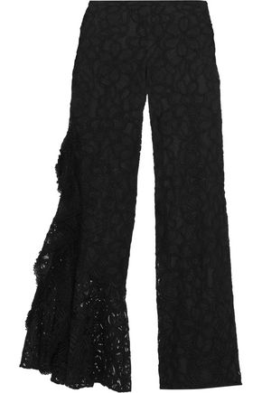 ALEXIS Romeo ruffled corded lace wide-leg pants
