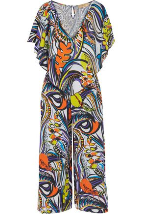 EMILIO PUCCI Cropped printed cotton jumpsuit