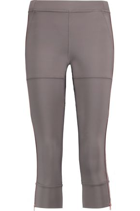 ADIDAS by STELLA McCARTNEY Studio cropped mesh-paneled stretch-knit leggings