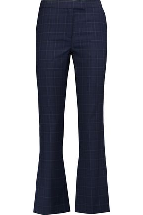 OSMAN Checked wool bootcut pants