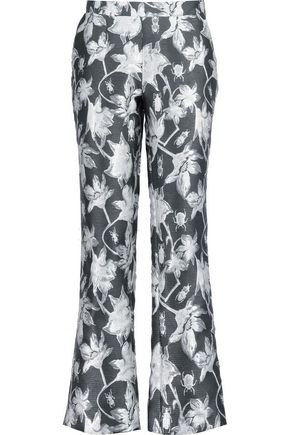 OSMAN Brocade flared pants
