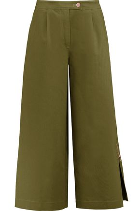 OSMAN Cotton-poplin culottes