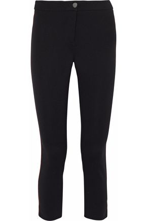 BELSTAFF Striped paneled stretch-ponte pants