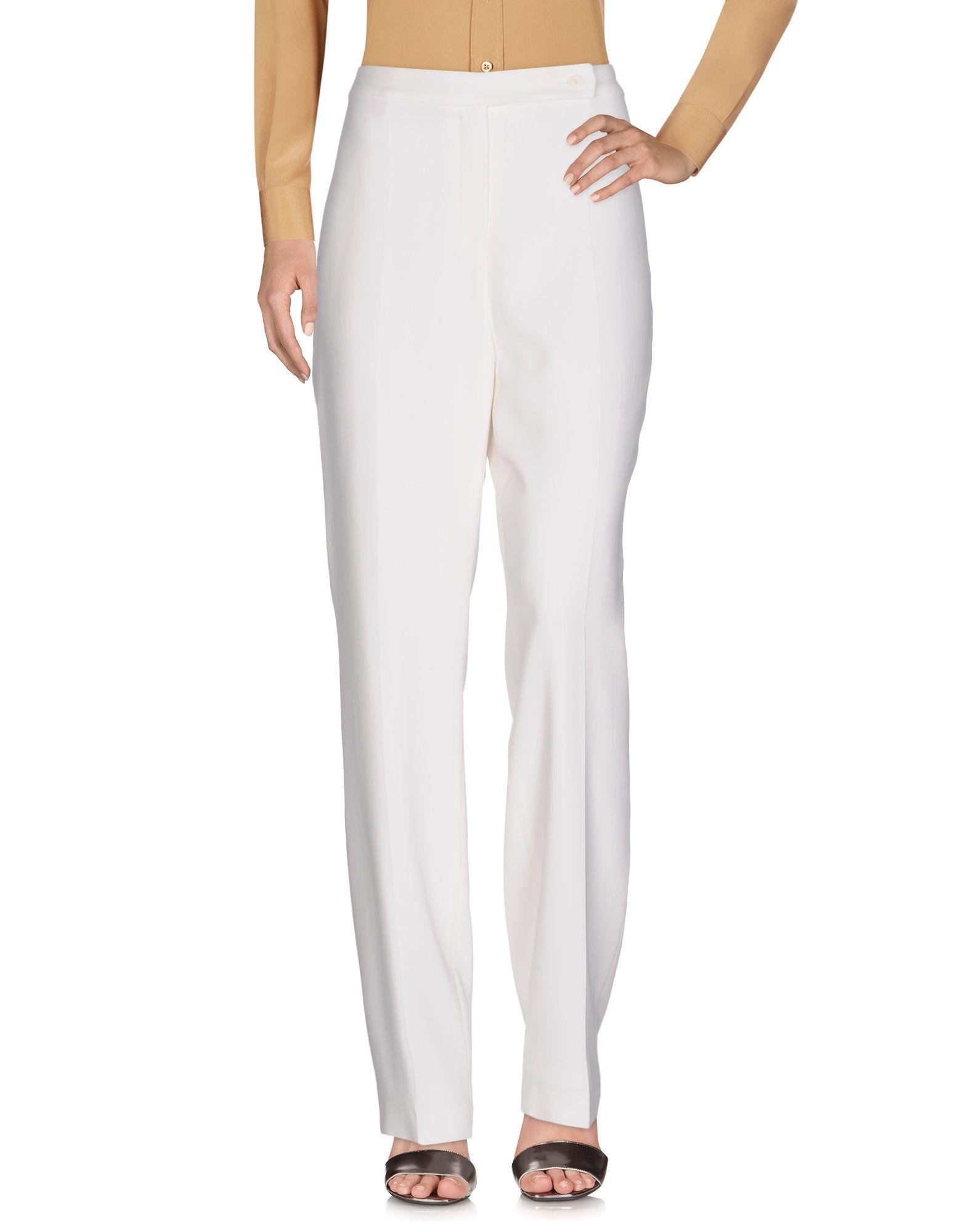 ROBERTO QUAGLIA Damen Hose Farbe Weiß Größe 7