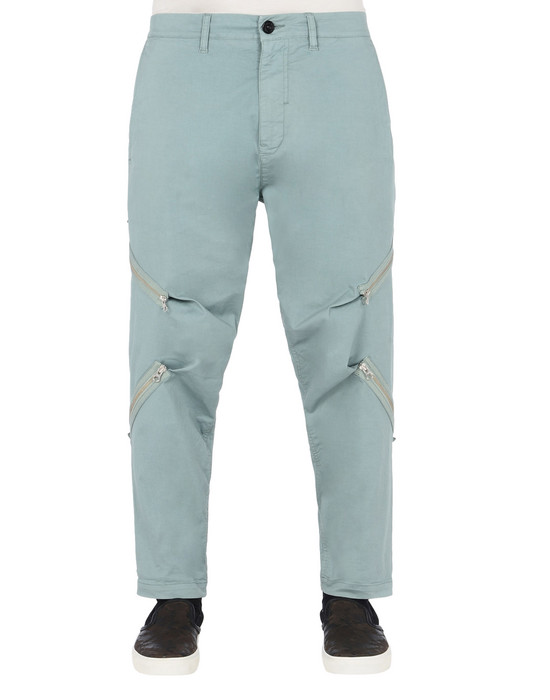 STONE ISLAND SHADOW PROJECT TROUSERS 30108 RESHAPE PANTS WITH ADJUSTMENT ZIPPERS (STRETCH COTTON GABARDINE)