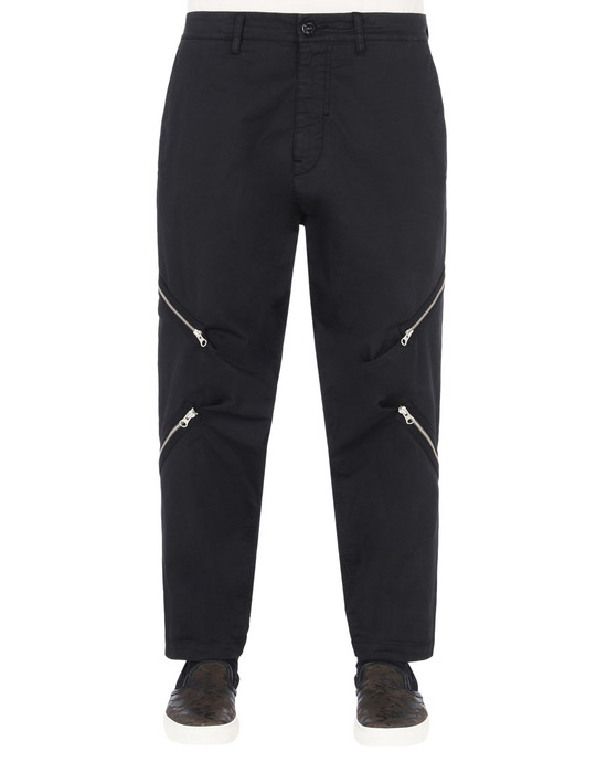TROUSERS 30108 RESHAPE PANTS WITH ADJUSTMENT ZIPPERS (STRETCH COTTON GABARDINE) STONE ISLAND SHADOW PROJECT - 0