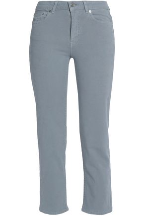 ACNE STUDIOS Cropped cotton-blend poplin slim-leg pants