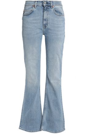 ACNE STUDIOS Distressed high-rise flared jeans
