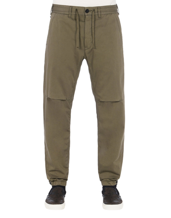 TROUSERS 30409 LEISURE PANTS (STRETCH COTTON WOOL SATIN) STONE ISLAND SHADOW PROJECT - 0