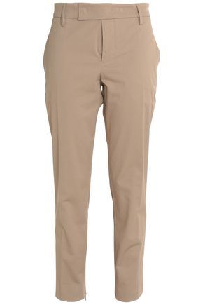 JIL SANDER High-rise cotton-blend twill tapered pants