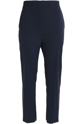 JIL SANDER Cropped wool-blend tapered pants