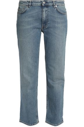 ACNE STUDIOS Cropped faded mid-rise straight-leg jeans
