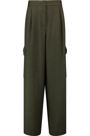 TIBI Delmont gabardine wide-leg pants