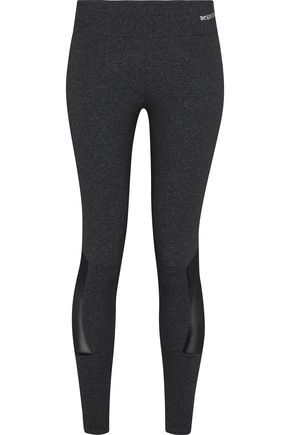 BODYISM Mesh-paneled mélange stretch leggings