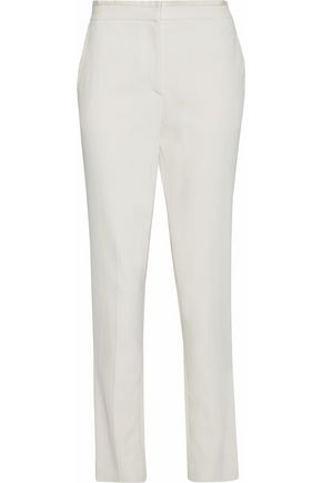RAG & BONE Grosgrain-trimmed crepe straight-leg pants