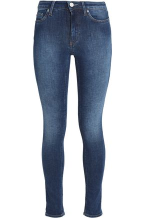 ACNE STUDIOS Faded high-rise skinny jeans