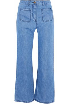 BELSTAFF High-rise wide-leg denim culottes
