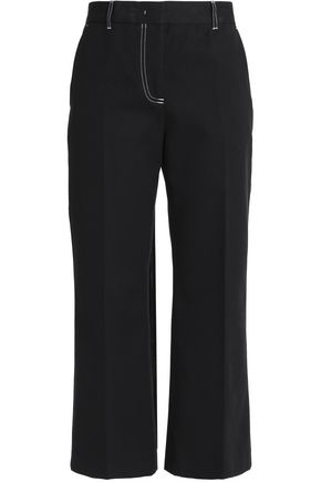 MSGM Cropped mid-rise straight-leg jeans